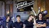De coaches van The voice of Holland: Waylon, Lil Kleine, Anouk en Ali B.