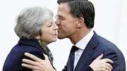 Theresa May en Mark Rutte
