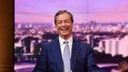 Nigel Farage van de Brexit Party heeft alle reden tot lachen.