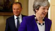May met EU-leider Donald Tusk.