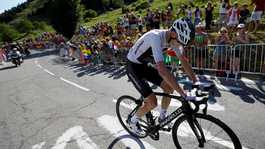 Chris Froome in actie.