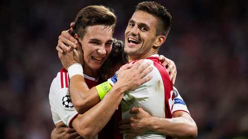 Carel Eiting en Dusan Tadic.