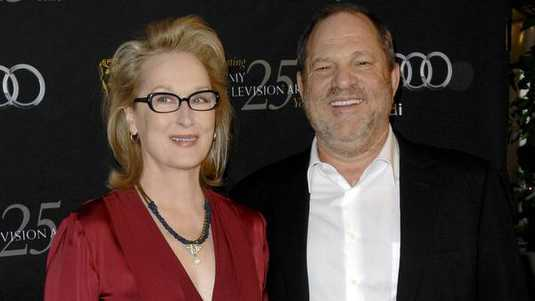 Meryl Streep en Harvey Weinstein