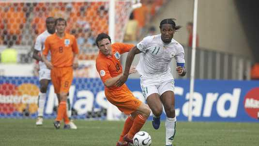 Didier Drogba retired from Mark van Bommel during the 2006 World Championship.