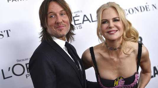 Keith Urban en Nicole Kidman gisteravond bij de Glamour Women of the Year Awards