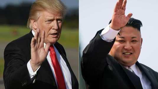 Donald Trump (VS) en Kim Jong-un (Noord-Korea).