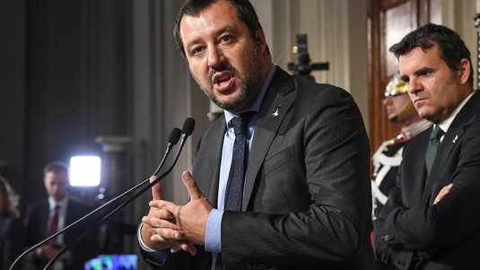 Lega-leider Matteo Salvini (links).