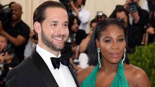 Alexis Ohanian en Serena Williams
