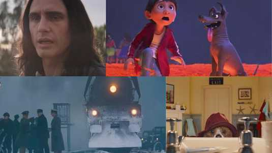 The disaster artist, Coco, Murder on the Orient Express & Paddington 2.