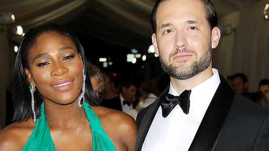 Serena Williams en Alexis Ohanian