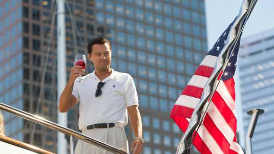 DiCaprio als Belfort in The Wolf of Wall Street.