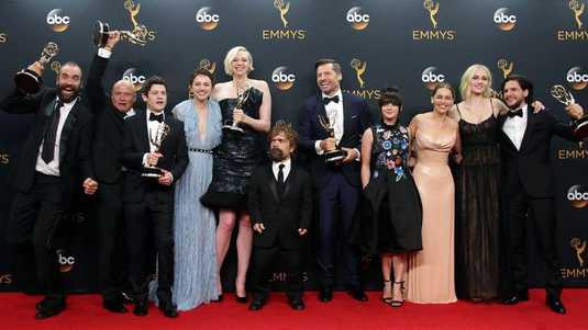 The cast en crew van Game of Thrones in 2016