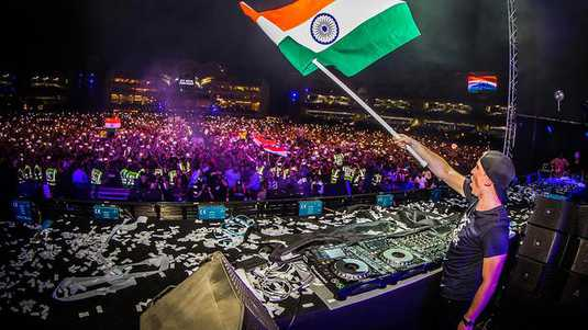 Hardwell gaat los in India