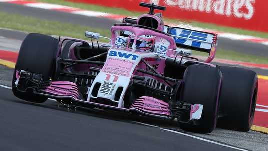 Formule 1-coureur Sergio Perez van Force India