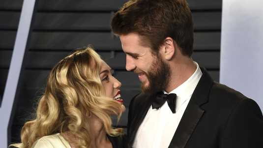 Miley Cyrus en Liam Hemsworth