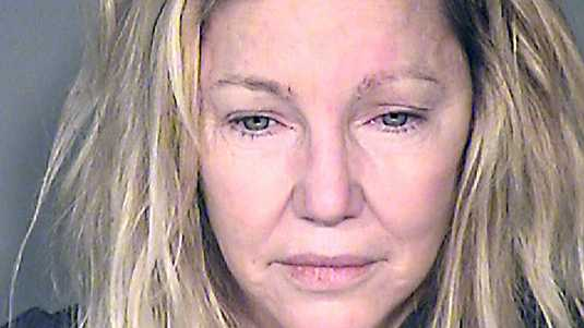 Heather Locklear, kort na haar arrestatie in juni.