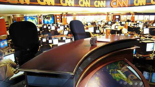 De newsroom van CNN.