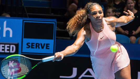 Serena Williams in actie.