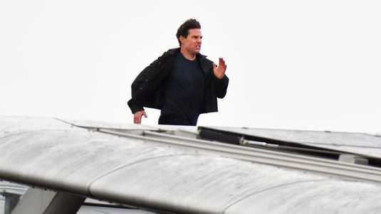 Tom Cruise op de set van Mission: Impossible 6.