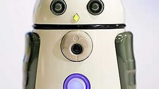 A prototype of a Hatapro Inc. Zukku communication robot sits on display at a SoftBank Corp. +Style media event in Tokyo, Japan, on Wednesday, March 8, 2017. Part of SoftBank's push into the Internet of Things, +Style, is a website where the makers of connected devices can seek customer feedback on prototypes, crowdfund and sell their creations. Photographer: Kiyoshi Ota/Bloomberg East Asian Information Technology Tech Computing Crowdfunding Asia Japanese Japan Robotics ORG XMIT: 700017074