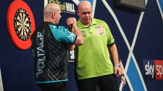 Rob Cross en Michael van Gerwen