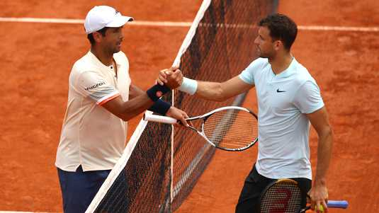 Verdasco versloeg Dimitrov in drie sets.