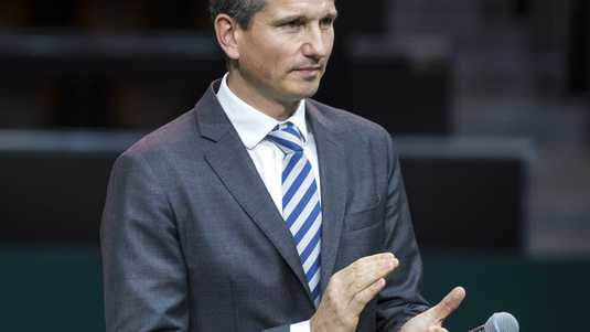 Toernooidirecteur Richard Krajicek van het ABN Amro World Tennis Tournament.