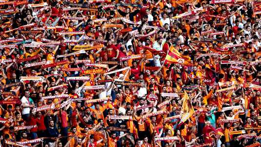 De supportersschare van Galatasaray.
